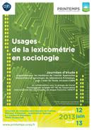 Affiche des journées Usages de la lexicométrie en sociologie